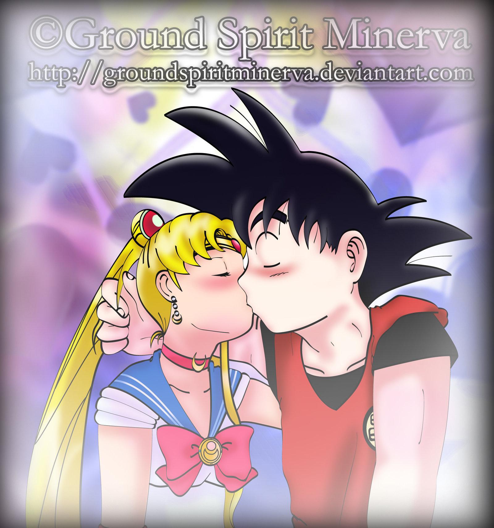 Goku and usagi love fan art by groundspiritminerva-d3cppsp