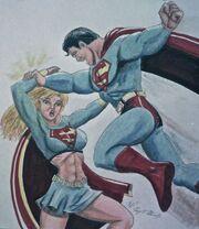 Superman supergirl rage by majoro-d91aagw