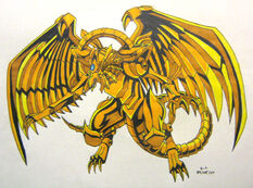 Winged Dragon of Ra by silana