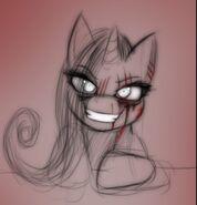 Rarity demon eyes
