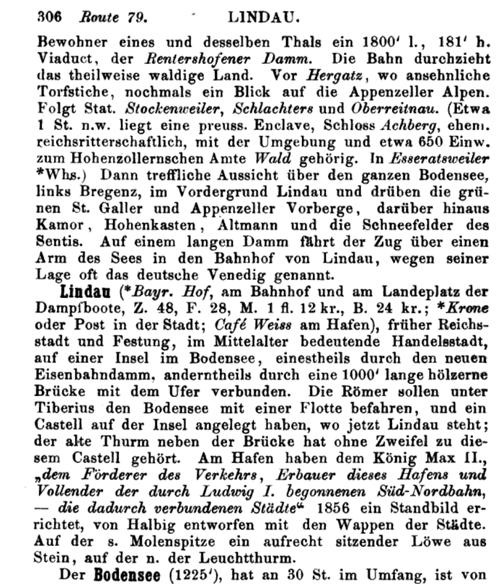 Baedeker, 1858 S. 306