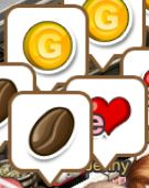 Coffee Gold Heart Icons