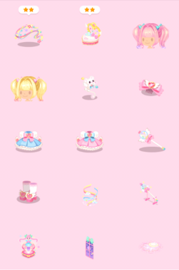 Magical Girl Luv-Luv Power Gacha Items