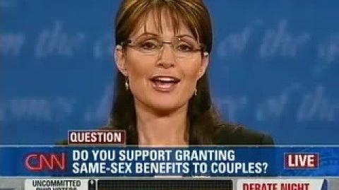 Palin and Biden on Same-Sex Marriage