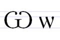 Cyrylicka litera Ѡ (o)