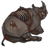 Carcass halfeatenrhino