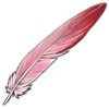 Feather flamingo