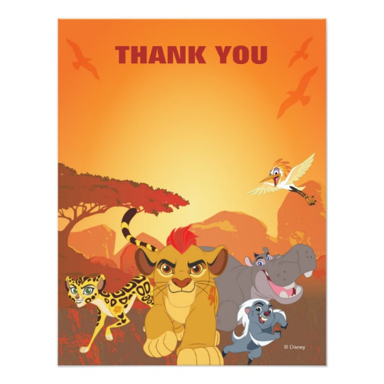 Image Lion Guard Thank You Birthday Card