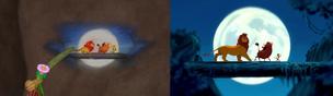 Simba, Timon and Pumbaa Dancing through the moon