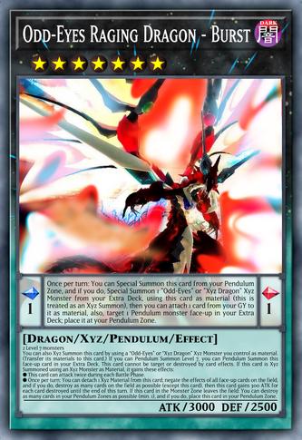 Odd-Eyes Raging Dragon - Burst