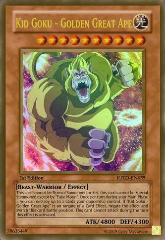 Kid Goku - Golden Great Ape