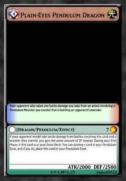 Plain-Eyes Pendulum Dragon
