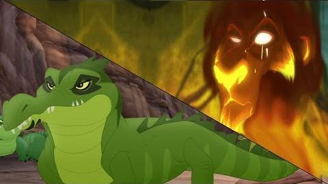 Lion Guard Kiburi takes over & Scar schemes Let Sleeping Crocs Lie HD Clip
