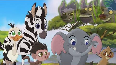 The Lion Guard Pretend! Hyena Attack! Follow that Hippo! HD Clip
