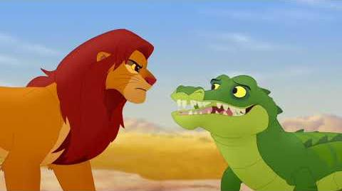 Makuu speaks with Simba (Lion Guard - Let Sleeping Crocs Lie)