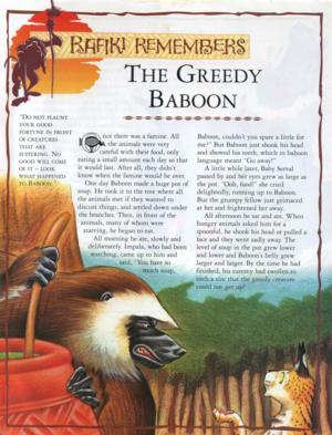 The Greedy Baboon 1