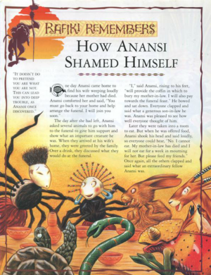 Anansi Shamed Himself 1