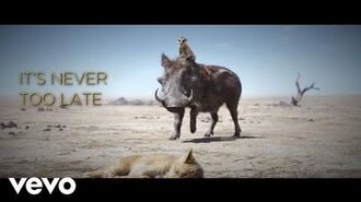 """Elton John - Never Too Late (From """"The Lion King"""" Official Lyric Video)"""