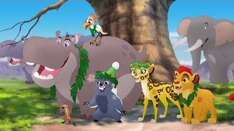 """Lion Guard The arrival of """"Dandy Claws"""" Timon and Pumbaa's Christmas HD Clip"""