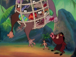 TOZ Timon Pumbaa & gorillas2