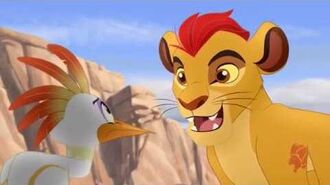The Lion Guard - Fire From The Sky, The Guard saves the giraffes from the fire sticks