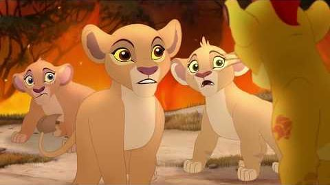Escaping deadly wildfire (The Lion Guard)