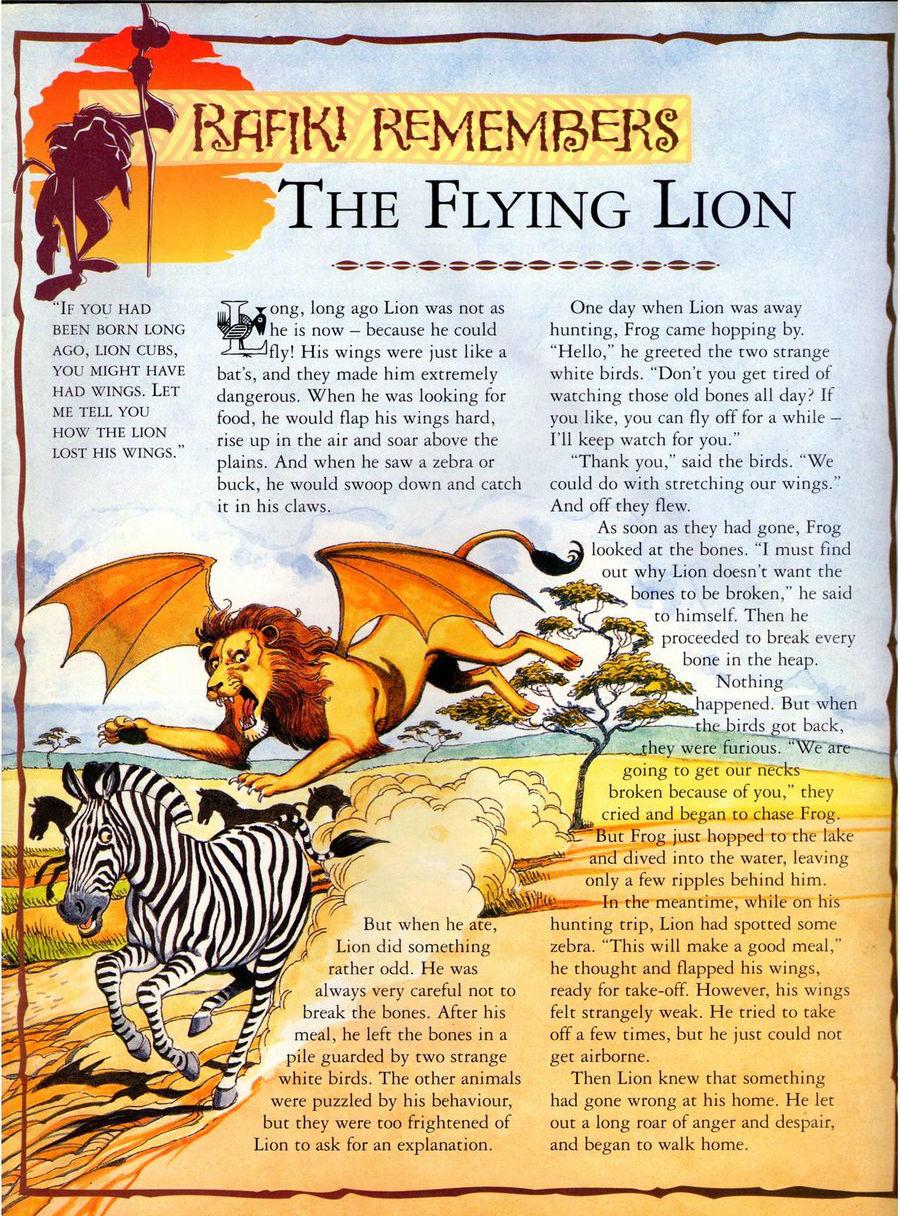 The Flying Lion (Rafiki Remembers)