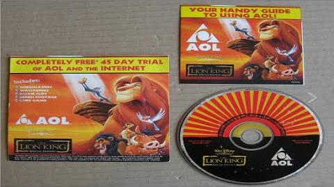 The Lion King Special Edition Rare promotional AOL CD