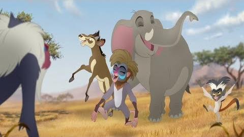Lion Guard Meet Chama, Mzaha & Furaha! Rafiki's New Neighbors HD Clip