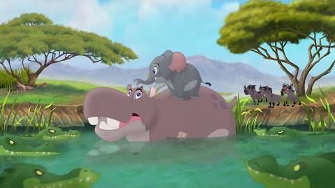 The Lion Guard Hyenas AND Crocodiles Vs Beshte & Mtoto! Follow That Hippo HD Clip
