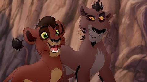 Lion Guard Meet Kovu, Nuka, Vitani & Zira! Lions of the Outlands HD Clip