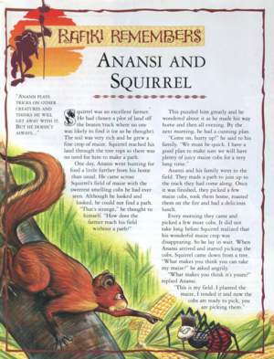 Anansi and Squirrel 1