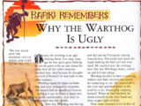 Why the Warthog Is Ugly