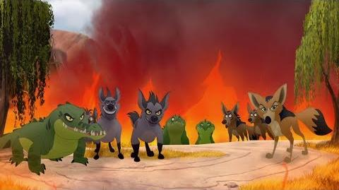 Lion Guard Scar's Army attack Kilio Valley The Kilio Valley Fire HD Clip