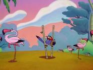 ZOBOD Zazu & flamingos