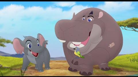 The Lion Guard Hero Inside Song Follow That Hippo! HD Clip