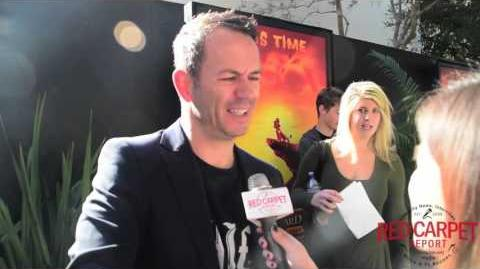 Jonny Rees Voice of Mzingo at Premiere of Disney's The Lion Guard Return of the Roar TheLionGuard