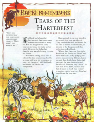 Tears of the Hartebeest 1