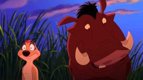 Timon meets Pumbaa