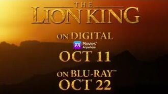 The Lion King Coming Earlier on Digital and Blu-ray, October 11