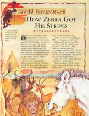 How Zebra Got His Stripes 1
