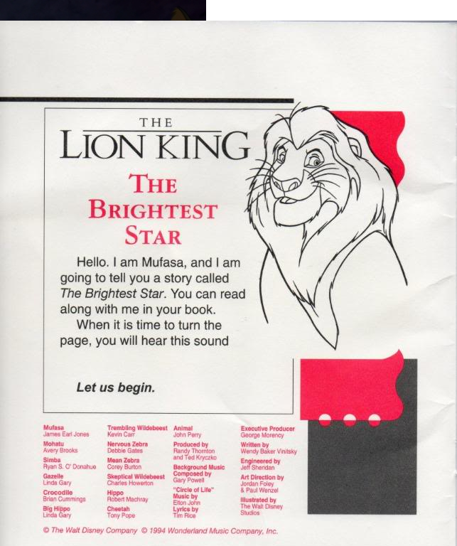 The Brightest Star The Lion King Wiki Fandom