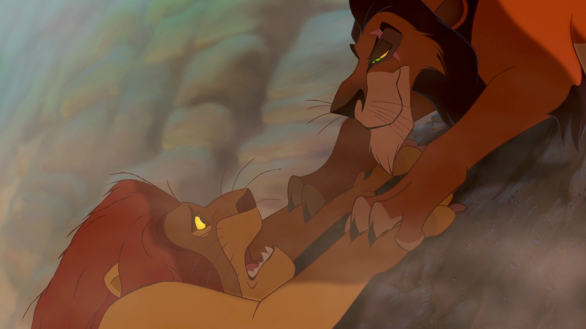 Scar Prepares To Throw His Brother Mufasa Death