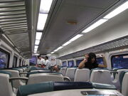 Long Island Railroad interior 1