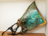 Works of art that use canvas, frames, or paintings in an unconventional way