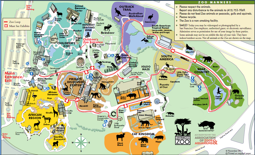 Image San fran zoopng List of Major Zoos in the US Wiki