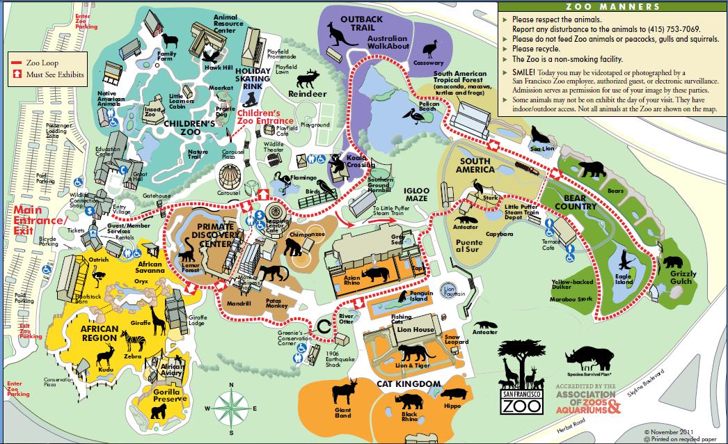 san francisco zoo address