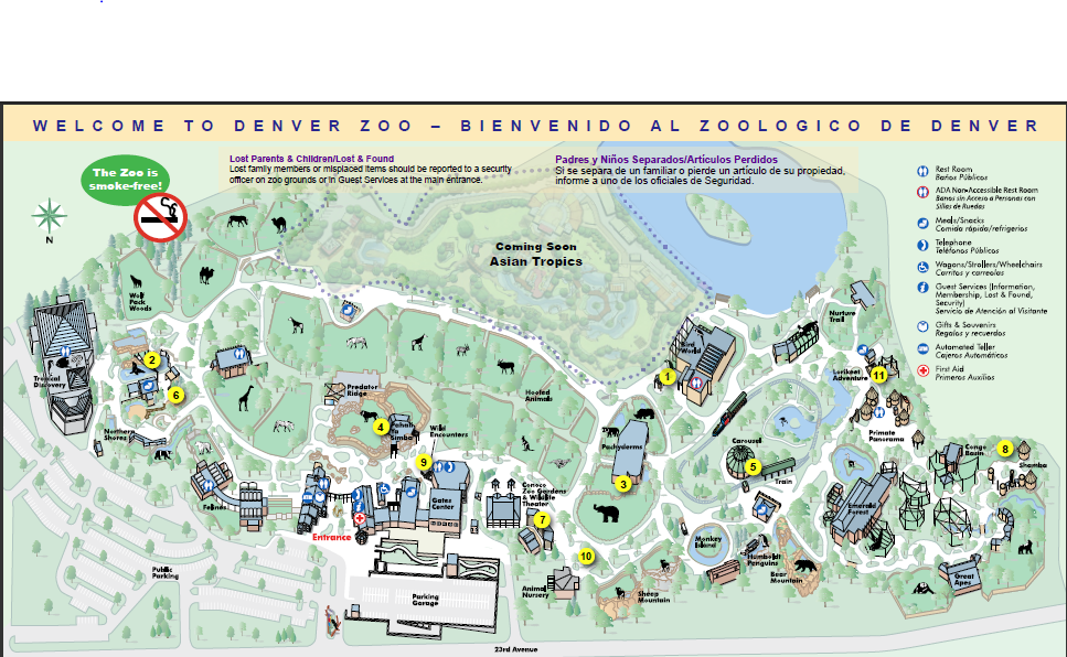 Denver Zoo Map Denver Zoo | List of Major Zoos in the U.S. Wiki | FANDOM powered
