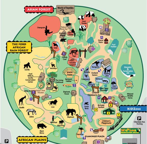 Map Of Zoo Atlanta Zoo Atlanta   List of Major Zoos in the U.S. Wiki   FANDOM powered