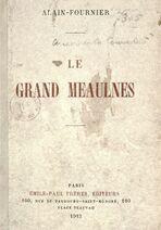 Fournier 1913 Grand Meaulnes